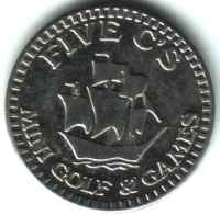 Five C's Mini Golf Silver Token Obverse