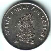Castle Family Fun Centers Silver Token Obverse