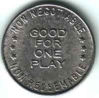 Castle Family Fun Centers Silver Token Reverse