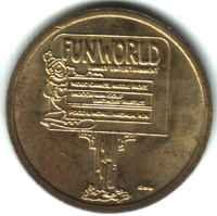 Fun World Nashua NH Brass Token Obverse