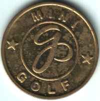GP Mini Golf Brass Token Obverse