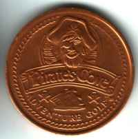 Pirate's Cove Adventure Golf Free Game Gold Token Obverse