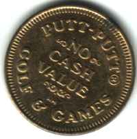 Putt-Putt Golf & Games Brass Token Reverse