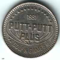 Putt-Putt Plus Golf & Games 1981 Silver Token Obverse